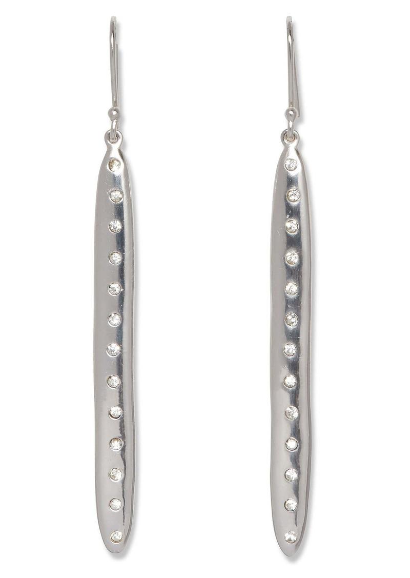 Sole Society Crystal Stud Linear Drop Earrings