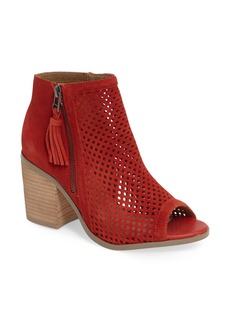 Sole Society Dallas Peforated Peep Toe Bootie (Women)