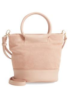 Sole Society Debdi Suede   Faux Leather Crossbody Bag d658ebe1fa3fe