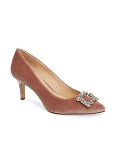 Sole Society Edilina Crystal Buckle Velvet Pump (Women)
