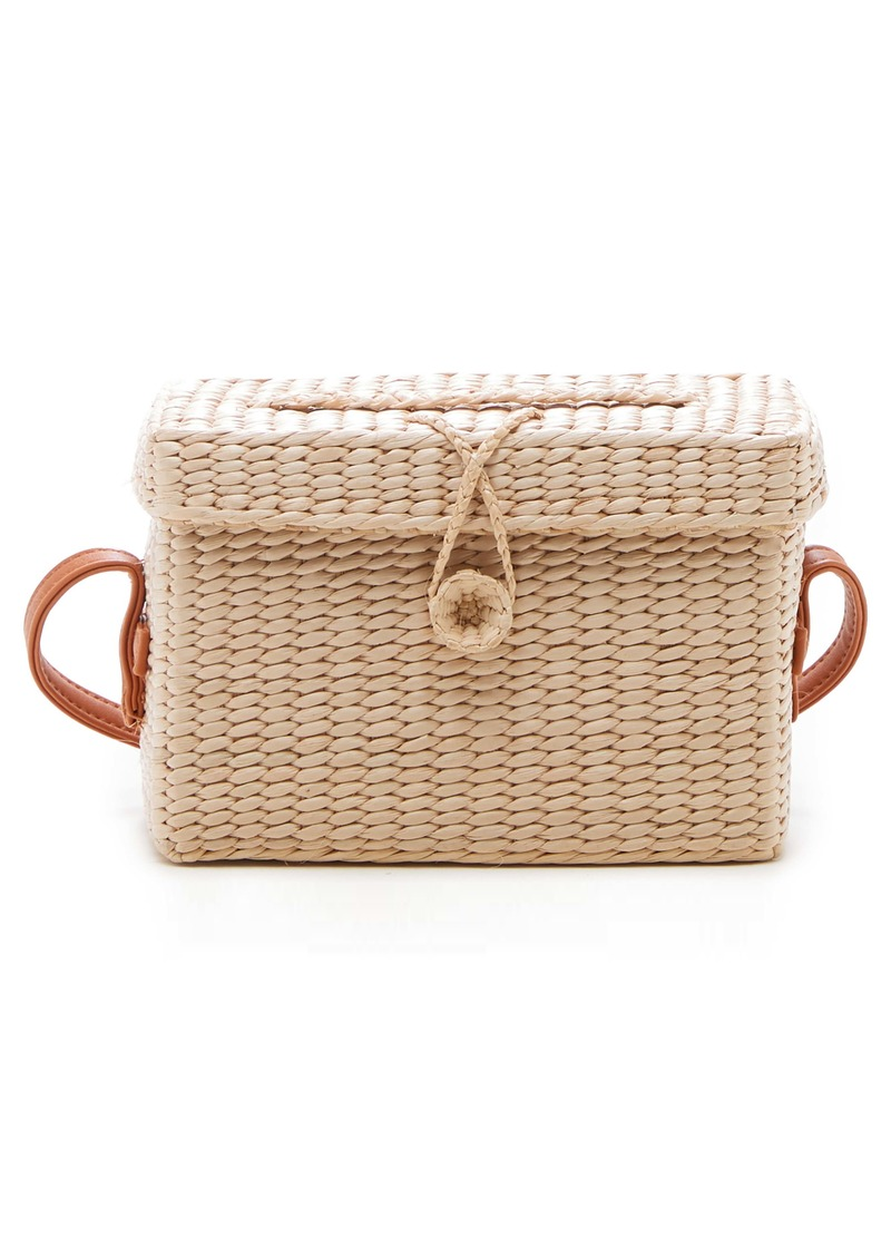 Sole Society Ellyn Straw Box Crossbody Bag