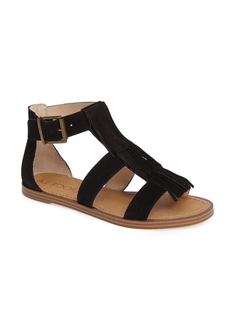 Two Strap Flat Slide Sandals
