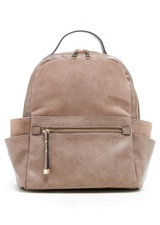 Sole Society Faux Leather & Suede Backpack