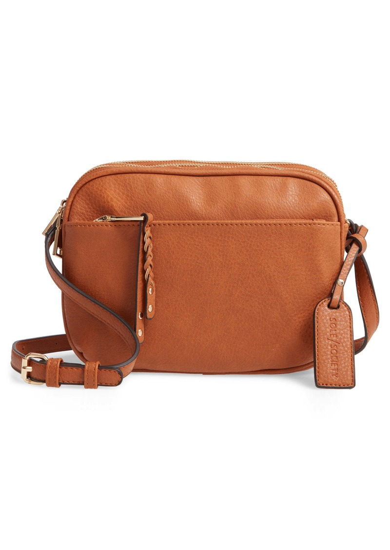 Sole Society Faux Leather Crossbody Bag