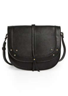 Sole Society Faylina Studded Faux Leather Saddle Bag