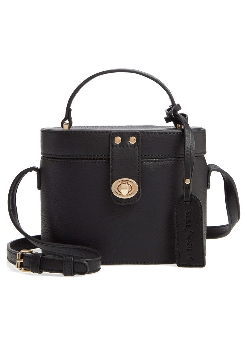 Sole Society Georgia Faux Leather Crossbody Bucket Bag