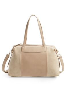 Sole Society Greyson Two-Tone Faux Leather & Faux Suede Duffel