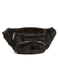 Sole Society Jaida Faux Fur Belt Bag