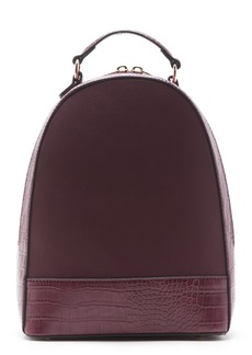 Sole Society Jamya Croc Embossed Faux Leather Backpack