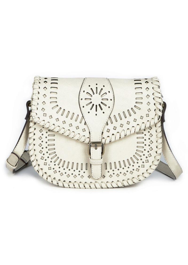 Kianna Perforated Faux Leather Crossbody Bag
