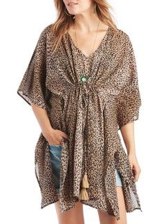 Sole Society Leopard Print Cotton Tunic