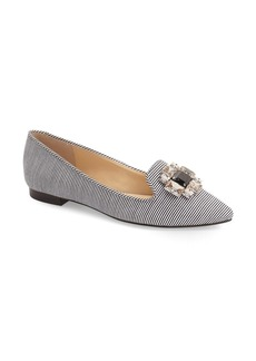 Sole Society 'Libry' Embellished Pointy Toe Flat (Women)
