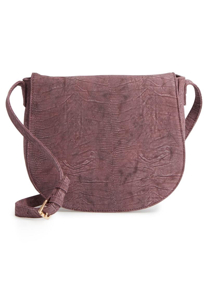 bd1b4fe625f0 Sole Society Sole Society Livvy Faux Leather Crossbody Saddle Bag ...