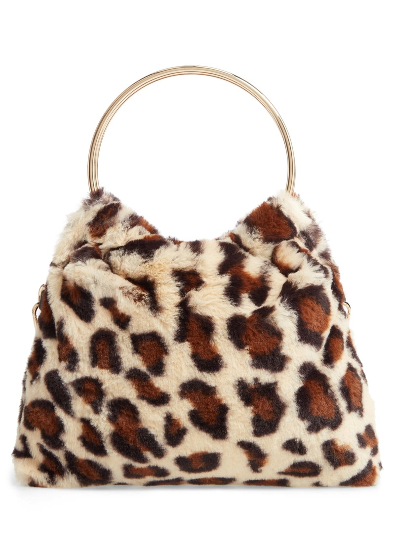 Sole Society Loray Faux Fur Top Handle Bag