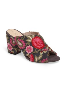 Sole Society Luella Flower Embroidered Slide (Women)