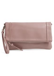 Sole Society Marlena Faux Leather Clutch.Crossbody Bag