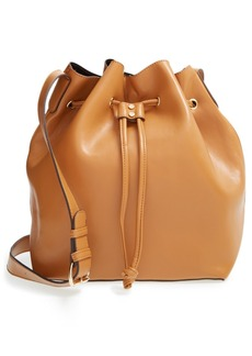 Sole Society 'Nevin' Faux Leather Drawstring Bucket Bag