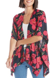 Sole Society Oversize Floral Print Wrap