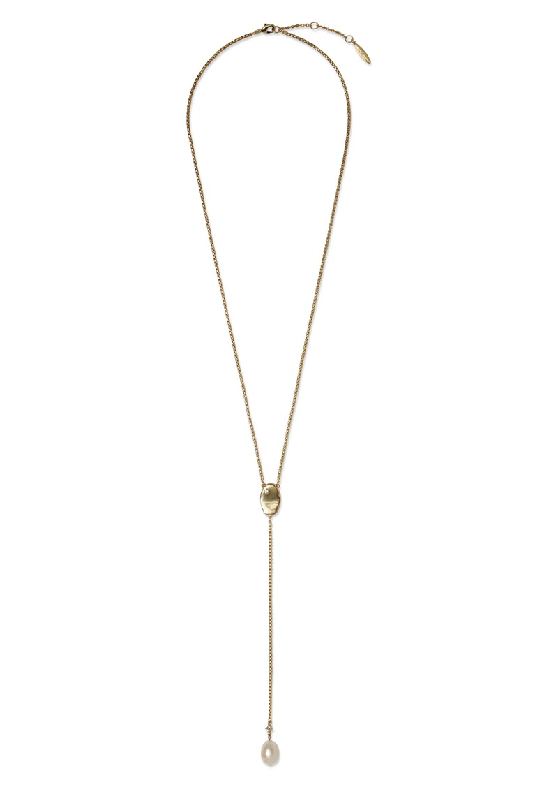 Sole Society Pearl Accent Y-Necklace