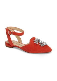 Sole Society Pearla Ankle Strap Flat (Women)