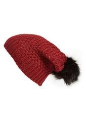 Sole Society Pom Knit Beanie