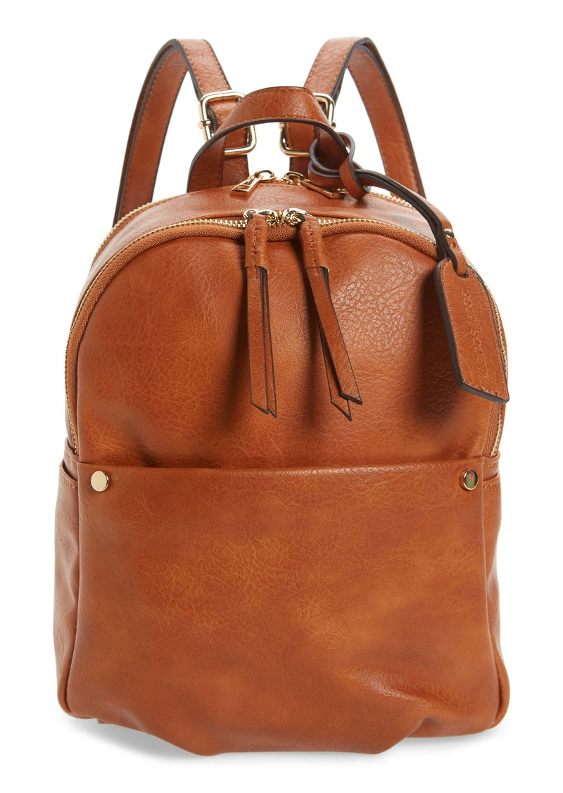 Sole Society Siena Faux Leather Backpack