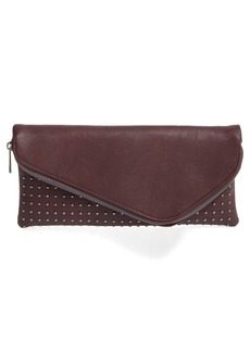 Sole Society Studded Foldover Clutch