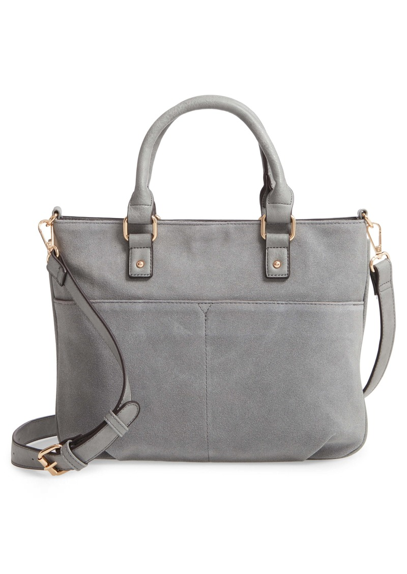 Sole Society Suede & Faux Leather Satchel