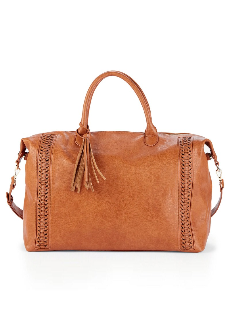 Sole Society Tara Whipsched Faux Leather Weekend Bag