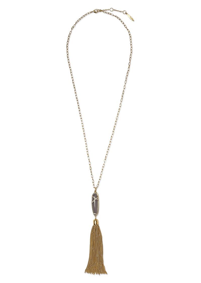 Sole Society Tassel Pendant Necklace