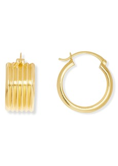 Sole Society Wide Huggie Hoop Earrings