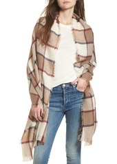 Sole Society Windowpane Check Blanket Scarf