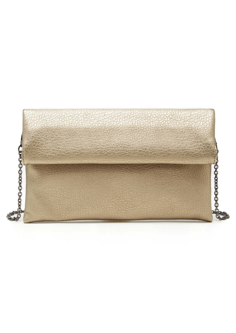 Sole Society Yotam Metallic Faux Leather Clutch