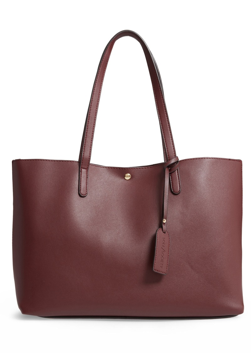 Sole Society Zeda Faux Leather Tote