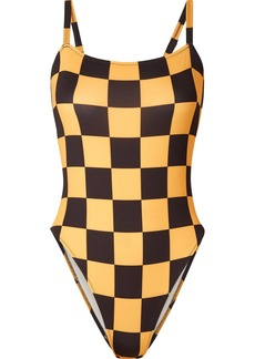 Solid & Striped Re/done The Malibu Checked Swimsuit