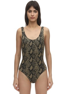 Solid & Striped Ann Marie Snake Print One Piece Swimsuit