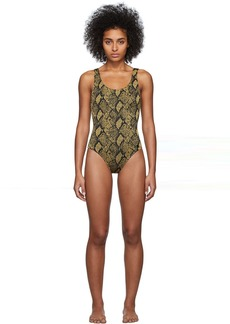 Solid & Striped Black & Gold 'The Anne-Marie' One-Piece Swimsuit