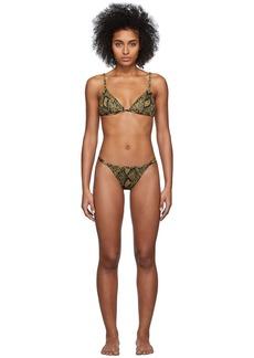 Solid & Striped Black & Tan 'The Lulu' Bikini