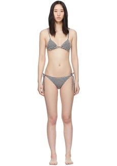 Solid & Striped Black & White Gingham 'The Charlotte' Bikini
