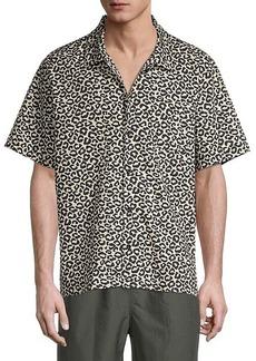 Solid & Striped Cabana Regular-Fit Leopard-Print Shirt