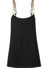 Solid & Striped Chain-embellished Linen-blend Mini Dress