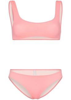 Solid & Striped crop top bikini set