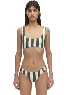 Solid & Striped Elle Safari Striped Lycra Bikini Top