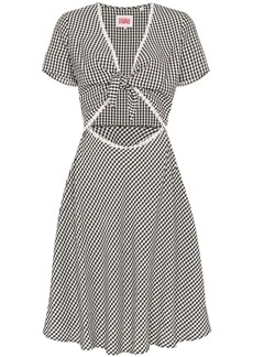 Solid & Striped gingham-check cutout sundress