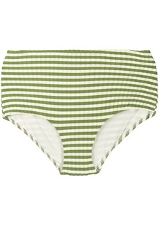 Solid & Striped high-rise striped bikini bottoms