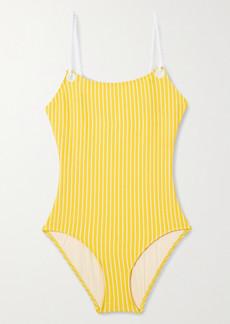 Solid & Striped Il Pellicano The Nina Striped Seersucker Swimsuit
