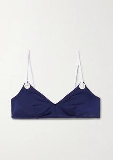 Solid & Striped Il Pellicano The Rachel Rope-trimmed Bikini Top