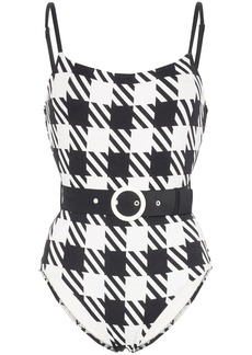 Solid & Striped Nina houndstooth swimsuit