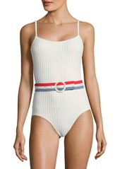 Solid & Striped Nina Rib-Knit One-Piece Swimsuit