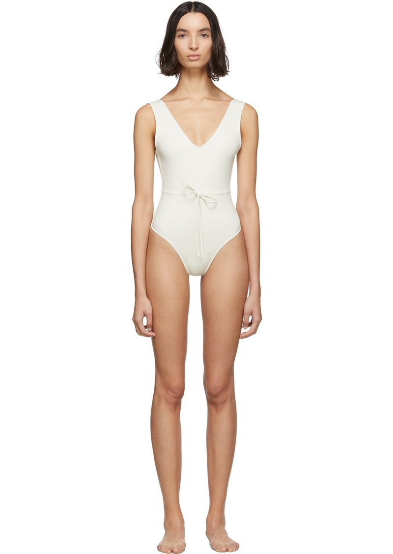 Solid & Striped Off-White 'The Michelle' One-Piece Swimsuit